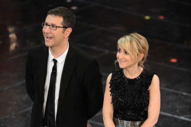 Fabio Fazio e Luciana Littizzetto sul palco di Sanremo 2013