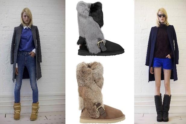 Per le più freddolose, gli stivali con zip e l'imbottitura di caldo montone interno di colore a contrasto!
