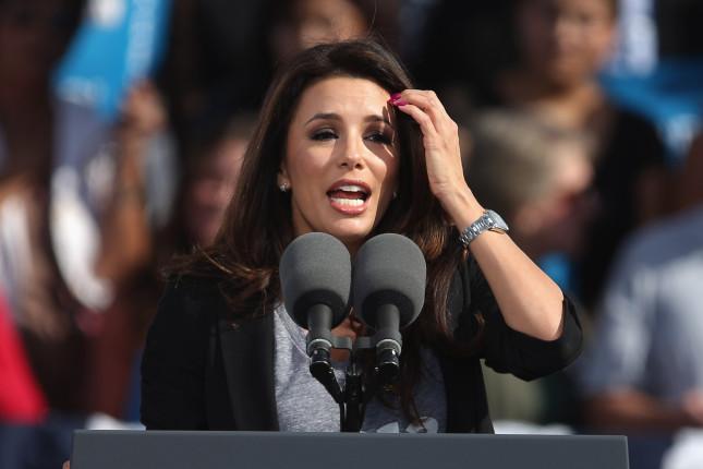 Eva Longoria alla campagna elettorale per Obama