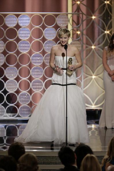 Jennifer Lawrence, vincitrice del Golden Globe per la miglior attrice non protagonista in American Hustle