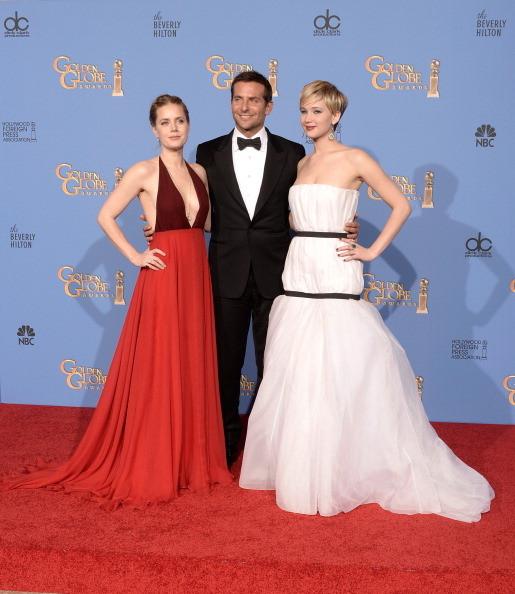 Amy Adams, Bradley Cooper e Jennifer Lawrence vincitori ai Golden Globes con American Hustle