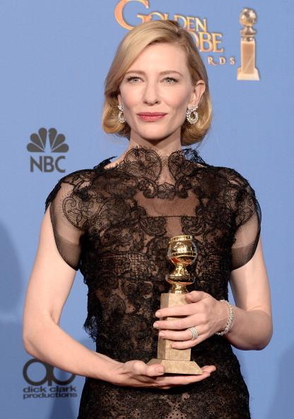 Cate Blanchett, vincitrice del Golden Globe come miglior attrice in un film drammatico in Blue Jasmine