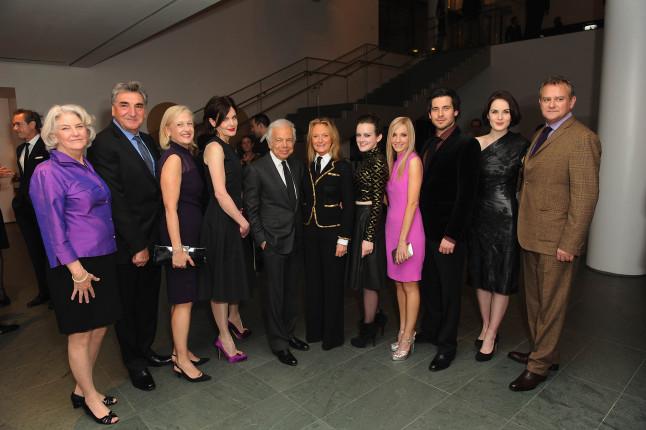 Il cast di Downton Abbey ad un ricevimento in loro onore organizzato da Ralph Lauren e Graydon Carter.