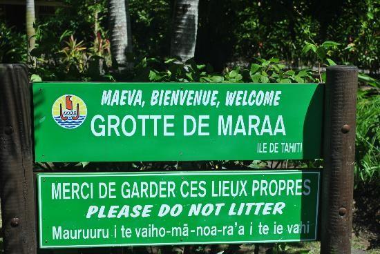 Caverna di Maraa Grotto, Tahiti