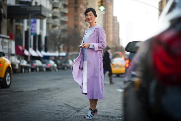 Cappotto color lilla
