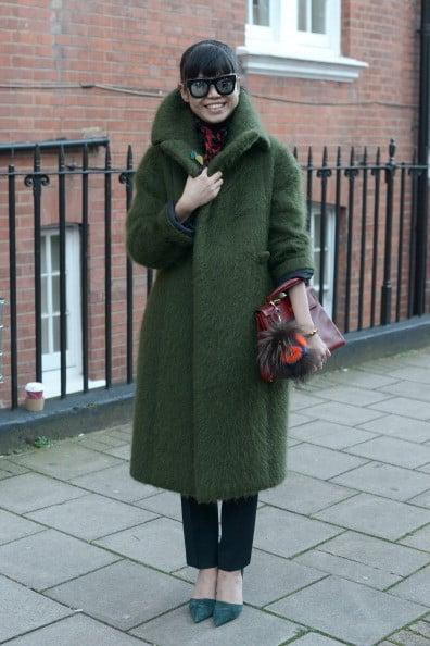 Cappotto verde scuro