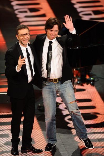 Il cantante Rufus Wainwright e Fabio Fazio