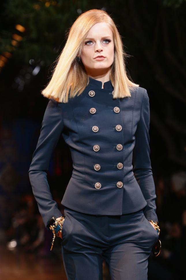 Bottoni dorati - Versace f/w 2014-2015
