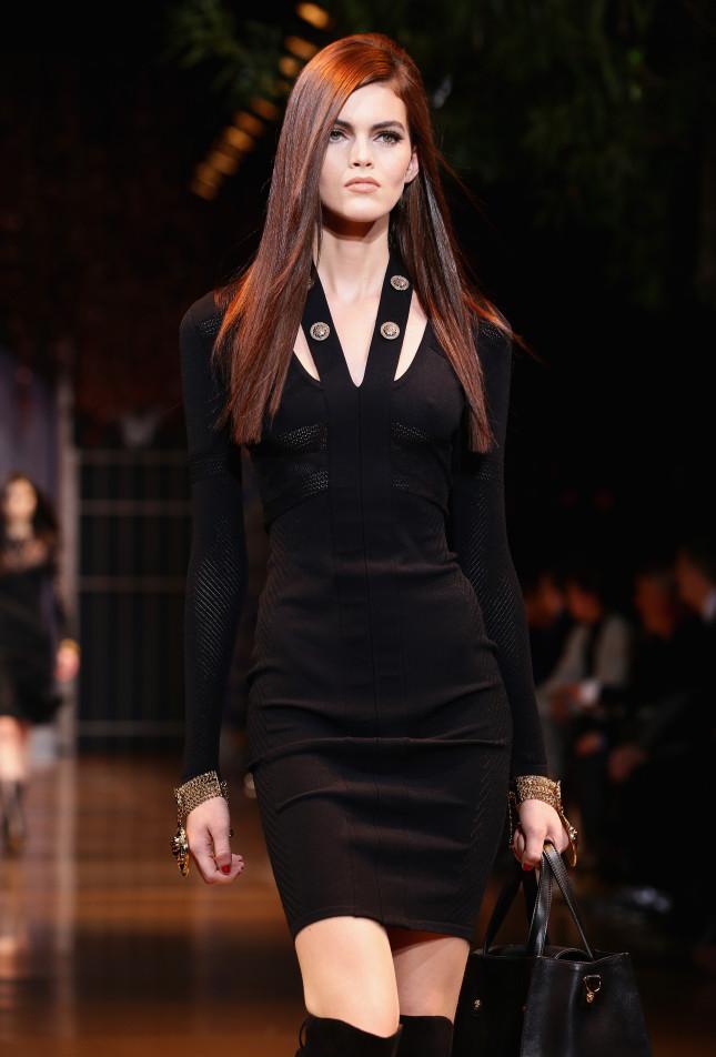 Vestito aderente nero - Versace f/w 2014-2015