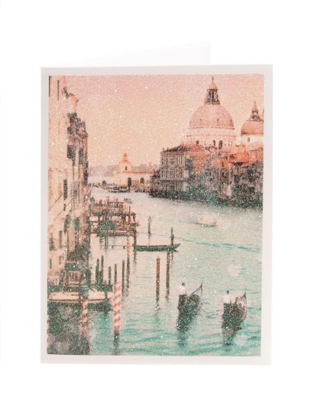 Valentine romantico con una Venezia glitterata.