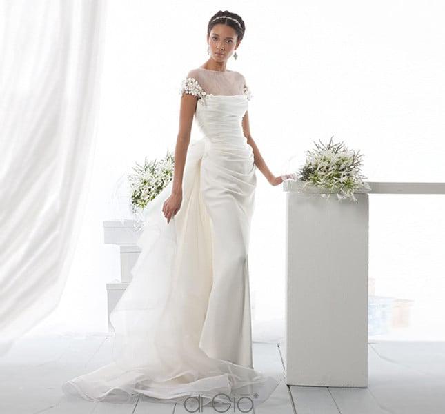Abito Spose di Giò 2014 con maniche gioiello.