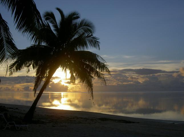 Aitutaki tramonto