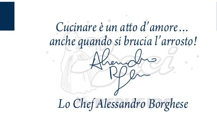 Lo chef Alessandro Borghese tra amore e fornelli
