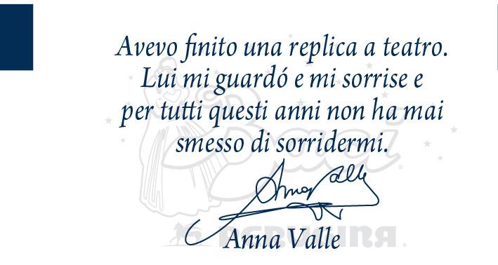 L'attrice Anna Vale ci lascia un suo ricordo d'amore