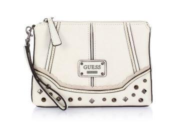 Pochette bianca Guess con borchie
