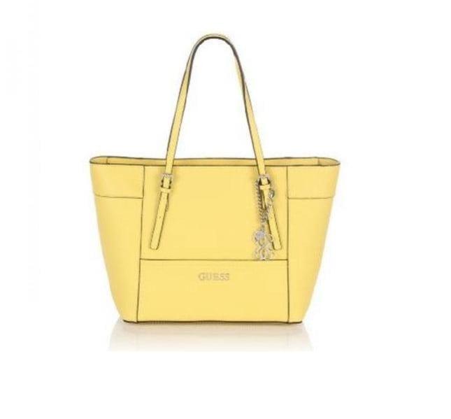 Maxi bag gialla con doppio manico, collezione Guess primavera-estate 2014