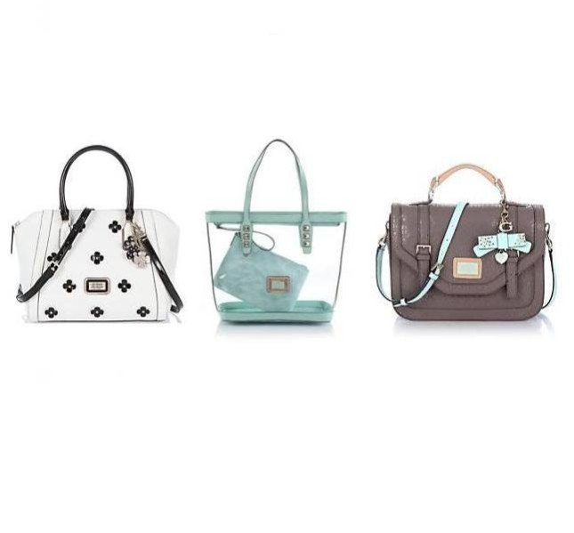 Handbag bianca, shopper in pvc e cartella Guess collezione primavera-estate 2014