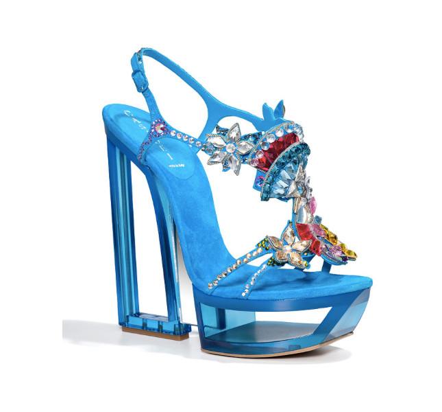 Casadei scarpa con cristalli