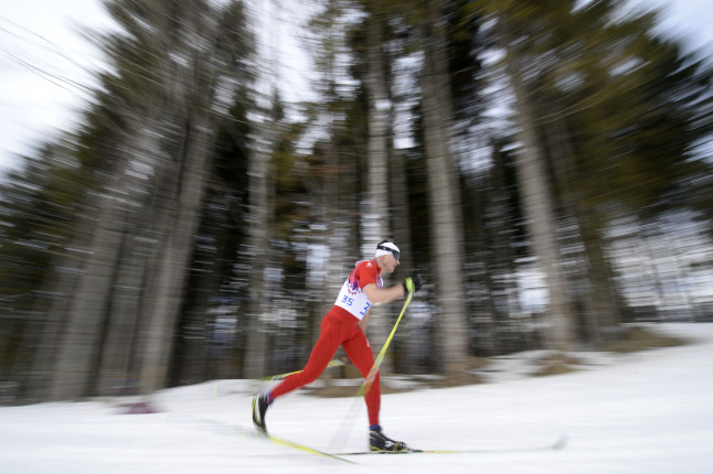 Lo spettacolo del fondo nel bosco di Sochi. Qui un passaggio del due volte medaglia d'oro Dario Cologna, svizzero.