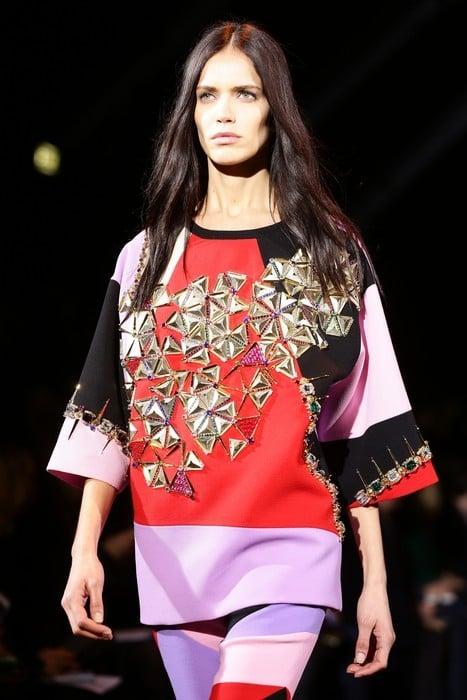 Maxi blusa con dettagli golden. Fausto Puglisi collezione autunno-inverno 2014-2015