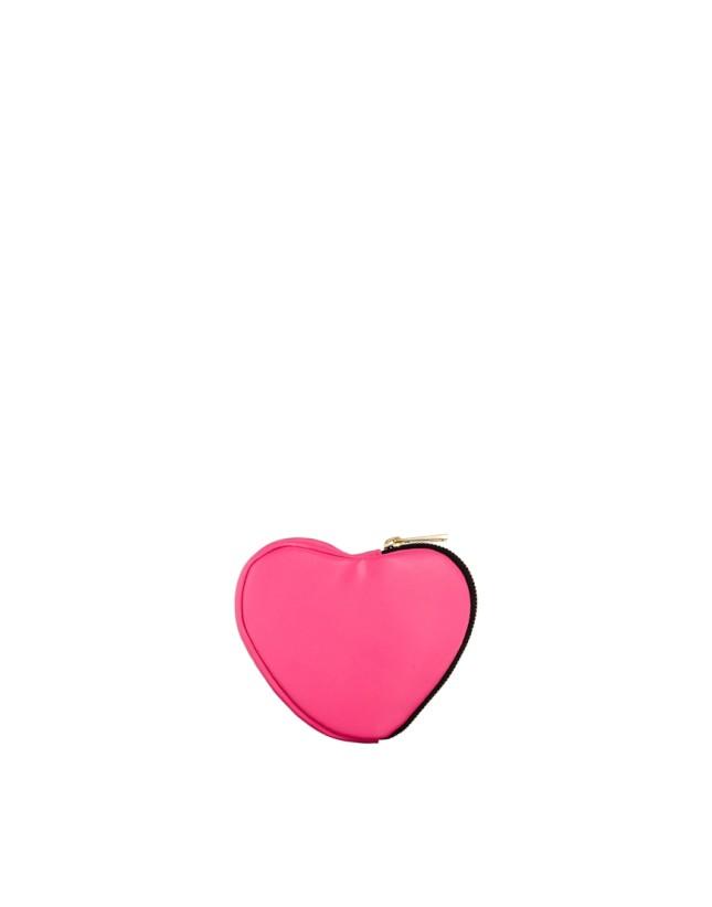 Borsellino a forma di cuore, fucsia fluo di Asos