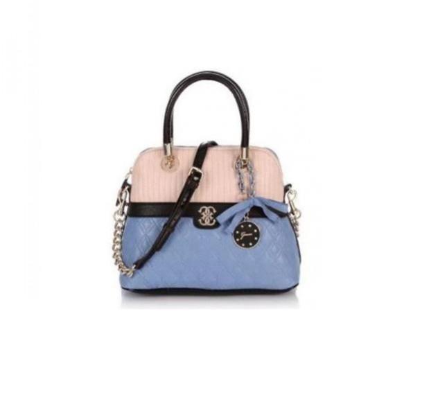Handbag rosa e celeste con dettagli neri e doppio manico Guess collezione primavera-estate 2014