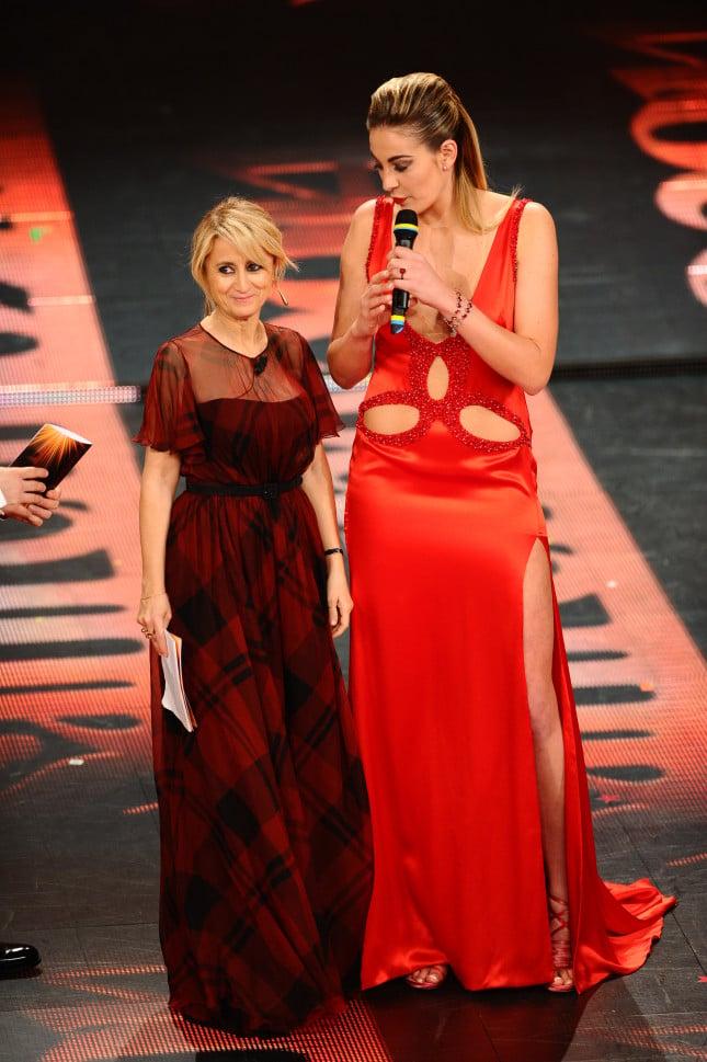 Festival di Sanremo 2014, Luciana Littizzetto con la pallavolista Veronica Angeloni