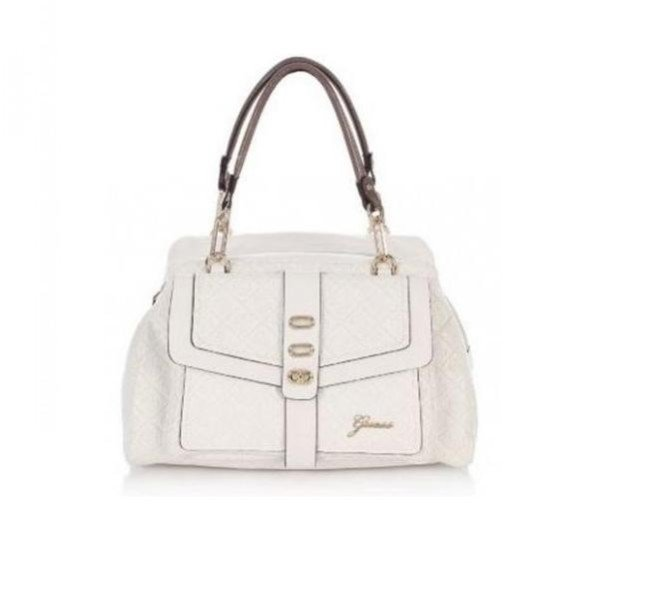 Maxi bag bianca da giorno Guess, collezione primavera-estate 2014