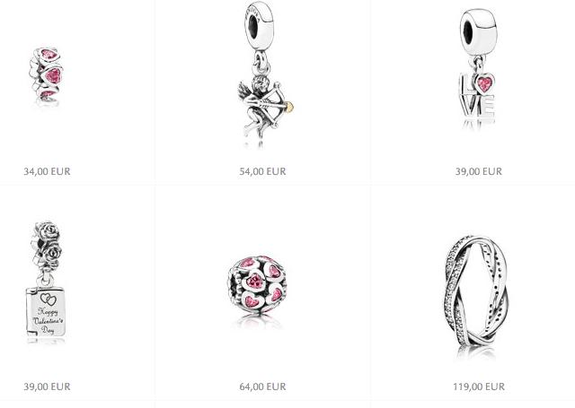 Pandora, collezione San Valentino