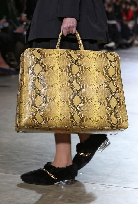 Maxi bag con stampa rettile, Simone Rocha collezione autunno-inverno 2014-2015