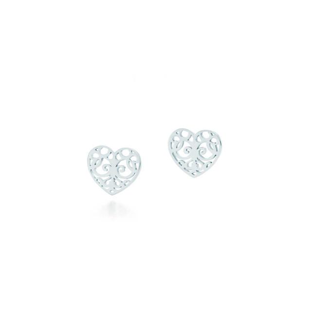 Tiffany, orecchini a cuore, collezione Enchant