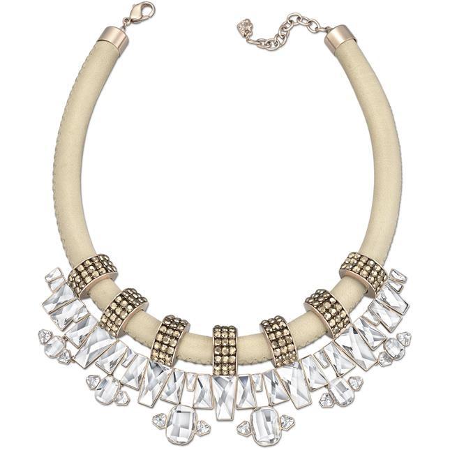 mod. Auburn Collana -  collier tubolare in pelle con pendente e placcatura in PVD oro rosa € 295,00