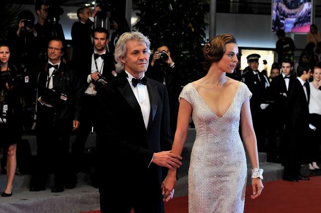 Kasia Smutniak e Domenico Procacci al Festival di Cannes