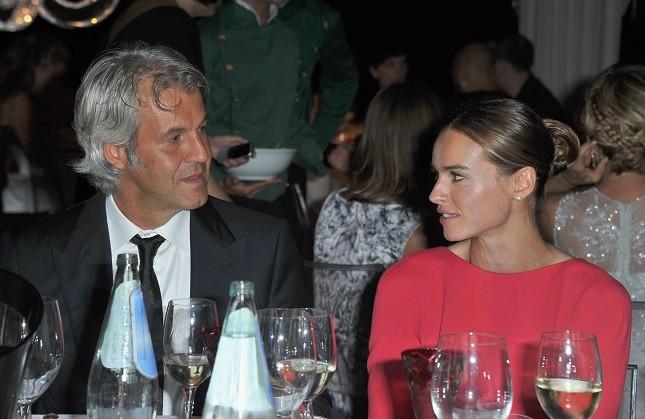 Kasia Smutniak e Domenico Procacci al la cena d'apetura del Festival di Venezia