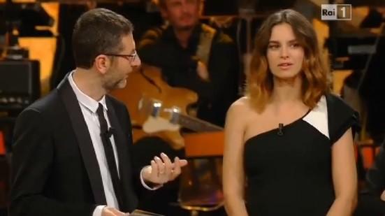 Kasia Smutniak in dolce attesa al Festival di Sanremo 2014