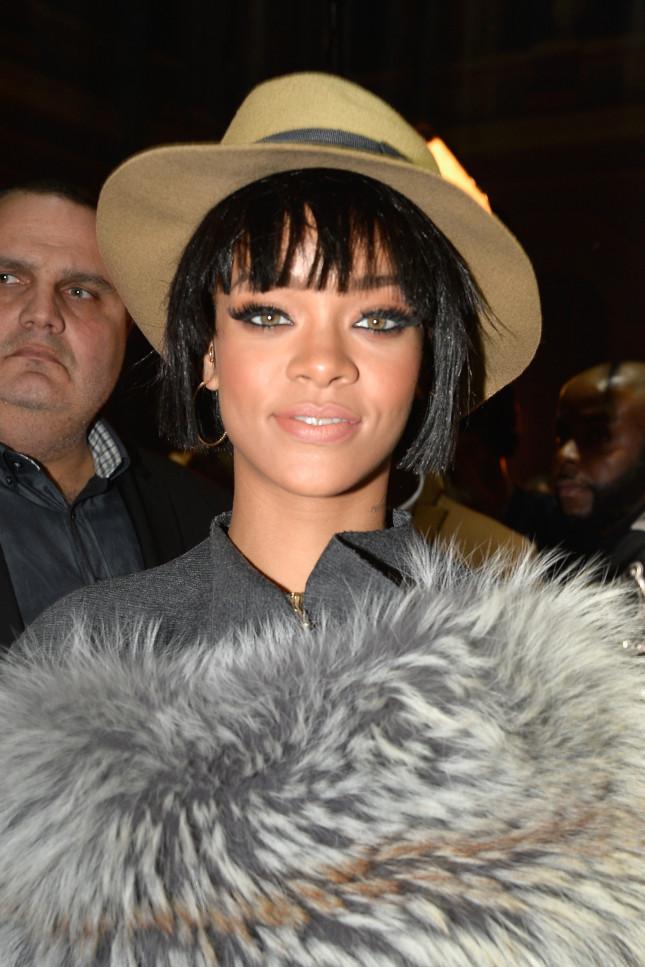 Rihanna alla sfilata di Lanvin