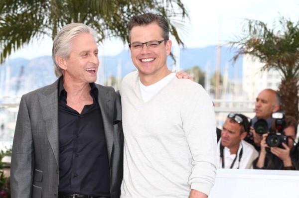 Matt Damon e Michael Douglas al Festival di Cannes