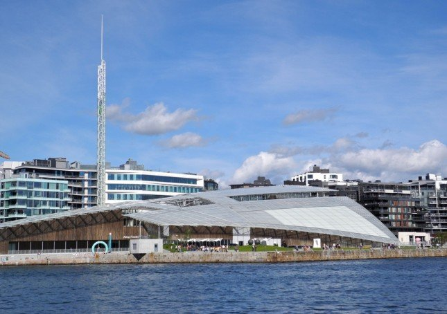 Il museo di arte Astrup Fearnley progettato da Renzo Piano