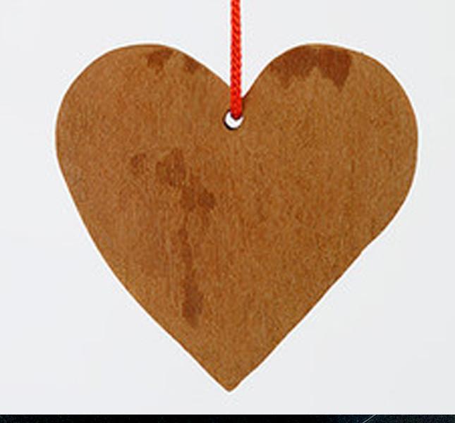 Altromercato: pendente cuore al profumo di cannella