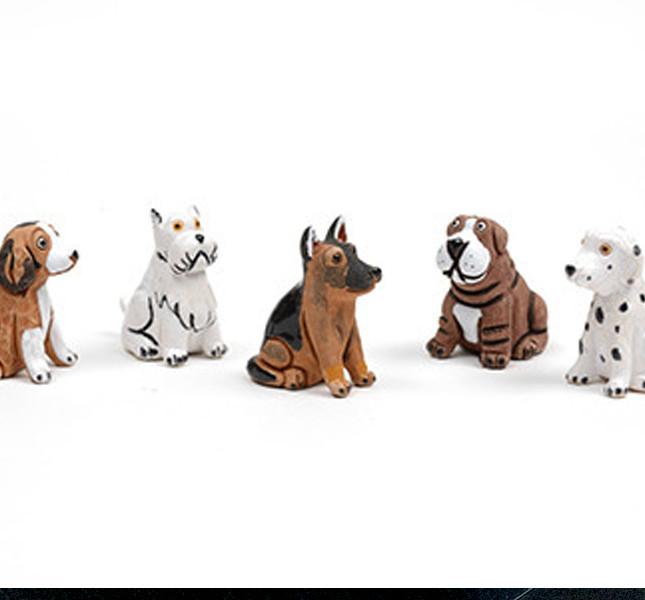 Altromercato: cagnolini in ceramica fatti in Perù
