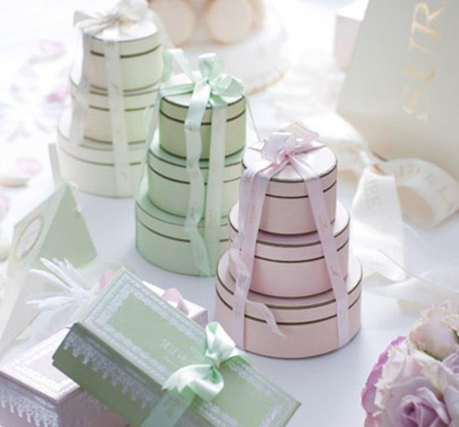 Bomboniere La Duree: graziose scatoline color pastello.