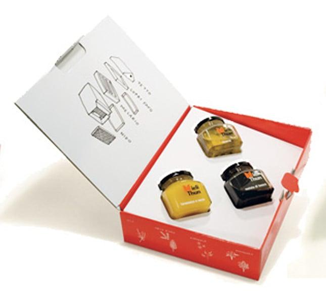 Idea regalo azienda Thun: selezione di mieli pregiati.