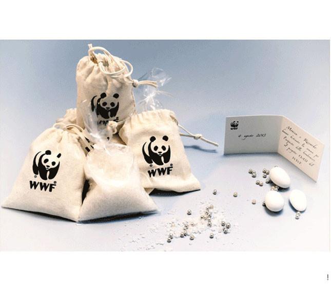 Bomboniera del WWF: sacchetto con sale marino.
