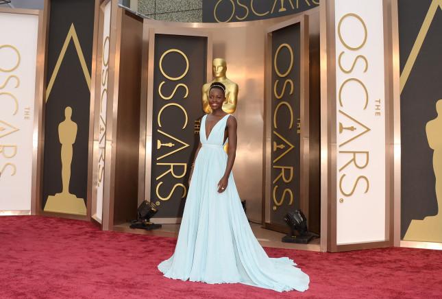 L'attrice Lupita Nyong'o premiata come migliore attrice non protagonista agli Oscar 2014
