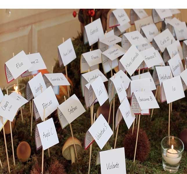 Una selva di nomi per un tableau personalizzato. progetto e idea Bluemilia Flower Studio per Sweet White Weddings.
