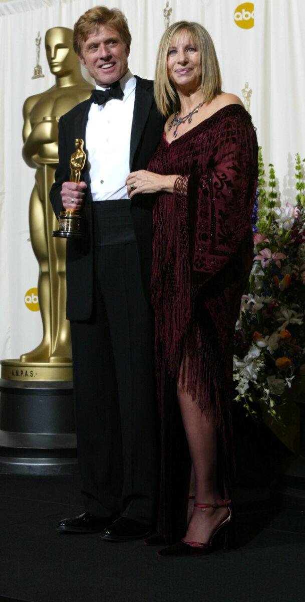 Barbra Streisend e  Robert Redford agli Oscar del 2005