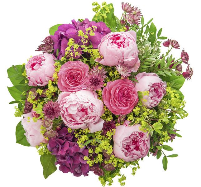 Bouquet di peonie rosa e verde, un must della stagione!