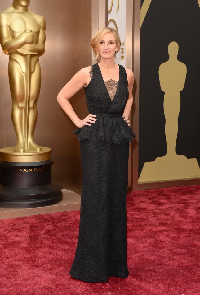 Per gli Oscar 2014 Julia Roberts ha indossato un abito Givenchy Haute Couture by Riccardo Tisci