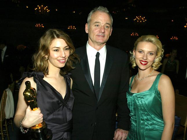 Sofia Coppola con Bill Murray e Scarlett Johansson, protagonisti di