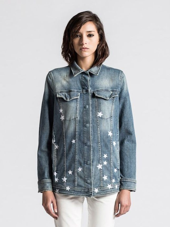 Giacca di jeans con stelle stampate_Diesel